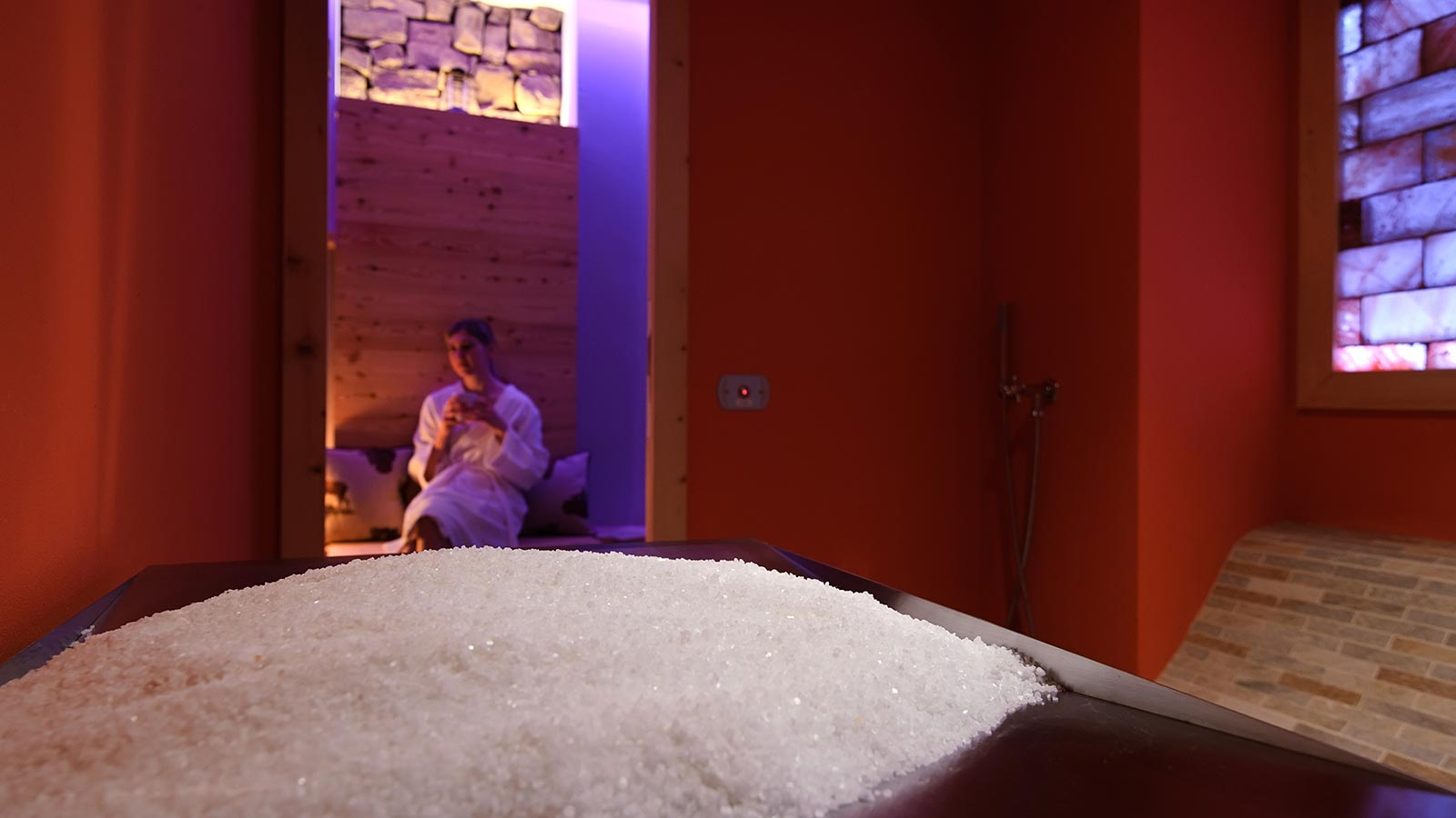 the salt room at hotel La Serenella in Moena